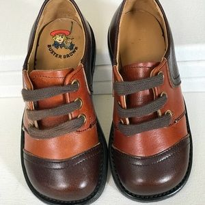 Vintage 1970s Brown Oxford Shoes Boys Girls